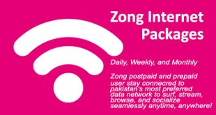 Zong Internet Packages Daily, Weekly, and Monthly