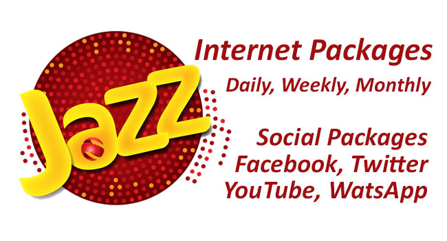Mobilink Jazz Internet Packages Daily, Weekly, Monthly