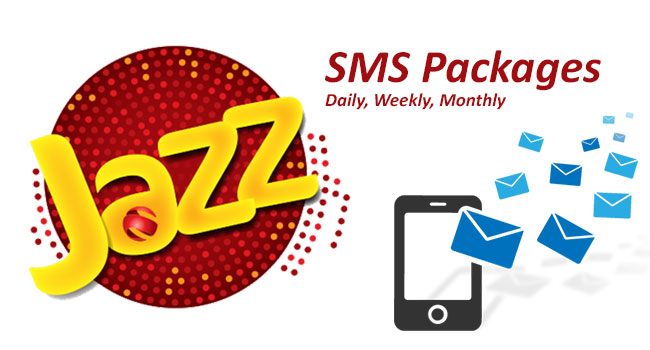 Mobilink/Jazz SMS Packages Daily, Weekly, Monthly